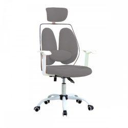 BENNO UT-C568X Irodai szék fejtámlával, szürke-fehér