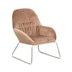 Dizájn fotel, barna-króm, MARTEL