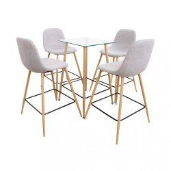 Étkezőgarnitúra asztal-négy szék, DAMAN