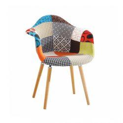 Fotel, anyag patchwork-bükk, KADIR tip 1