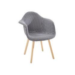 Étkező fotel, világosszürke anyag minta-bükk, LAMIS