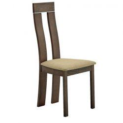 Fa szék, bükk merlot-barna anyag, DESI