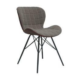 Dizájn szék, bézs-barna, LORANA