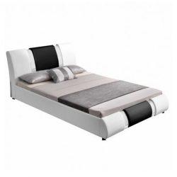 LUXOR Modern Franciaágy, 160x200 cm, fehér-fekete