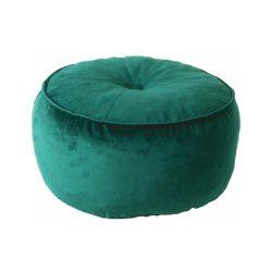 KEREM Puff varrással, ovális alakú, anyag: szövet, kivitel: smaragdzöld