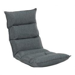 Relaxáló fotel, szövet szürke, LOTA NEW