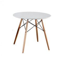 Étkezőasztal,  fehér-bükk, GAMIN NEW 80