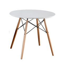 GAMIN NEW 90 Étkezőasztal, fehér/bükk