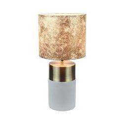 Asztali lámpa, világosszürke-barna minta, QENNY TYP 18