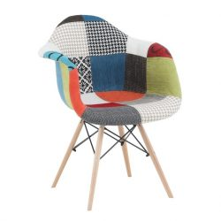 Fotel, bükkfa + patchwork minta, TOBO NEW