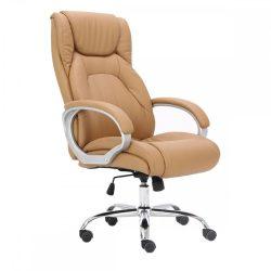 TULON Irodai szék, barna-camel-ezüst