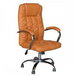 SORIA Irodai szék, barna műbőr-króm