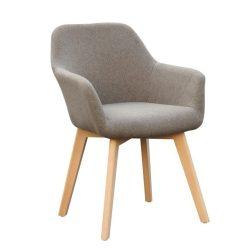 Dizájnos fotel, barna-bükk, CLORIN