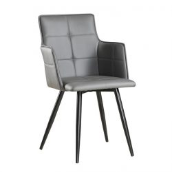 Dizájnos fotel, szürke TAUPE-fekete, KOMBO