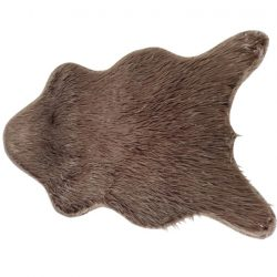 Műszőrme, szürke-barna-taupe-ezüst, 60x90, FOX TYP 4