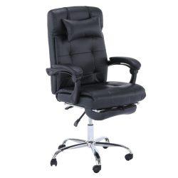 ARNAUD NEW Irodai szék, fekete textilbőr PU