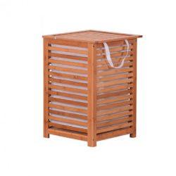Szennyestartó kosár, festett bambusz-bézs, BASKET