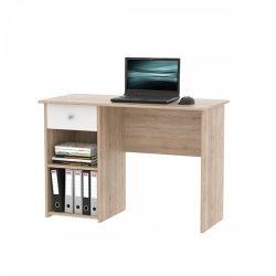 KARLIS PC asztal, tölgy sonoma-fehér