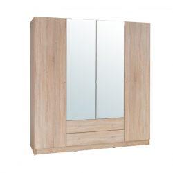 4-ajtós szekrény, tölgy sonoma, MEXIM
