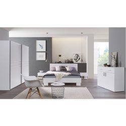 Hálószoba garnitúra, fehér, IKOMO