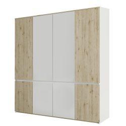 Akasztós szekrény, tölgy wellington-fehér, LEIRA 8D