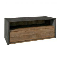 RTV asztal 130, tölgy lefkas-smooth szürke, MONTANA