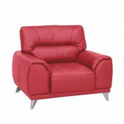 Bőr fotel, piros, Melesio