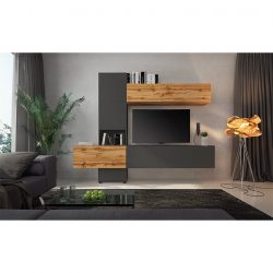 Nappali bútor, tölgy wotan-lava barna szuper matt, BRISTOL