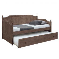 Ágy mellékággyal, tölgy antik, Baroba