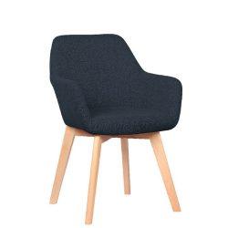 Dizájnos fotel, sötét szürke-bükk, CLORIN