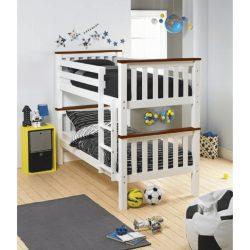 ROWAN NEW Emeletes, kinyitható ágy ágy, fehér/barna