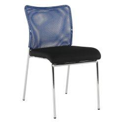 ALTAN Irodai szék, kék/fekete/króm
