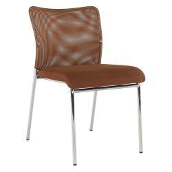 ALTAN Irodai szék, barna/króm