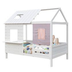 BIBIANA Montessori ágy, fehér, 90x200