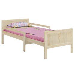 EUNIKA Állítható hosszúságú ágy, természetes