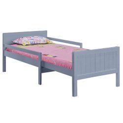 EUNIKA Állítható hosszúságú ágy, szürke