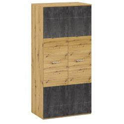 ERIDAN Akasztós szekrény polccal, artisan tölgy/szürke beton