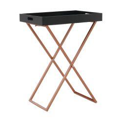 MASINO Tálalóasztal, fekete/réz