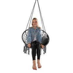 AMADO 2 NEW Függő szék, pamut+fém/szürke
