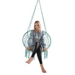 AMADO 2 NEW Függő szék, pamut+fém/menta