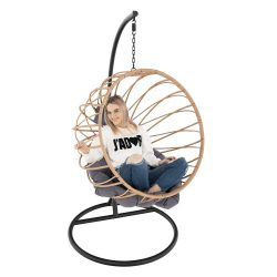GABE Függő szék, természetes/fekete/szürke
