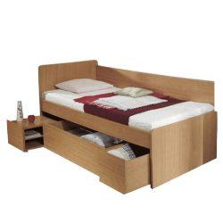 OTO Ágy ágyneműtartóval, bükk, 90x200 cm