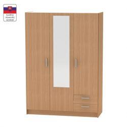 BETTY 7 BE07-001-00 3 ajtós szekrény tükörrel, bükk