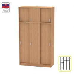 BETTY 4 BE04-010-00 2 ajtós szekrény tolóajtóval és felső szekrénnyel, bükk