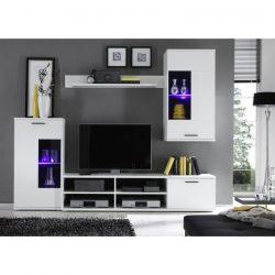FRONTAL 1 Nappali sor LED világítással, fehér + áttetsző üveg