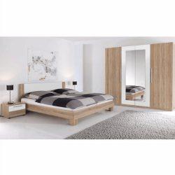 MARTINA Hálószoba bútor, sonoma tölgyfa/fehér