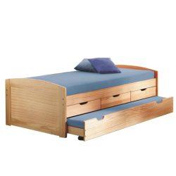MARINELLA Ágy kihúzható pótággyal, tömörfából, 90x200
