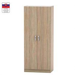 2-ajtós szekrény, akasztós, polcos, tölgyfa sonoma, BETTY 2 BE02-003-00