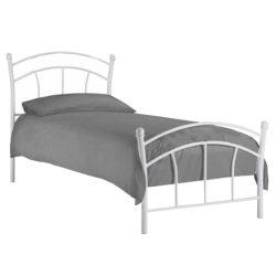 BURZUM Fém ágy lécezett ráccsal, fém (fehér)