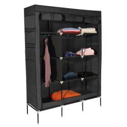 TARON Praktikus szekrény rendező szövet+fém fekete